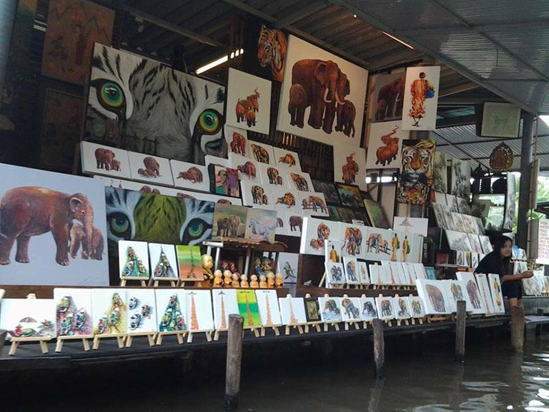 Image Damnern Saduak Floating Market
