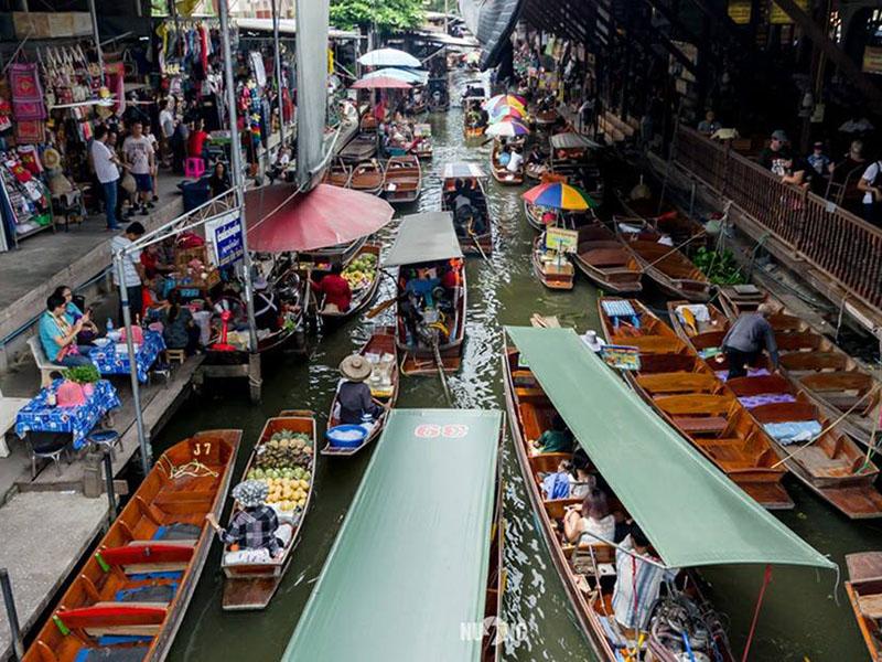 담노엔 사두악 떠있는 시장(  Damnern Saduak Floating Market ) (650 THB)